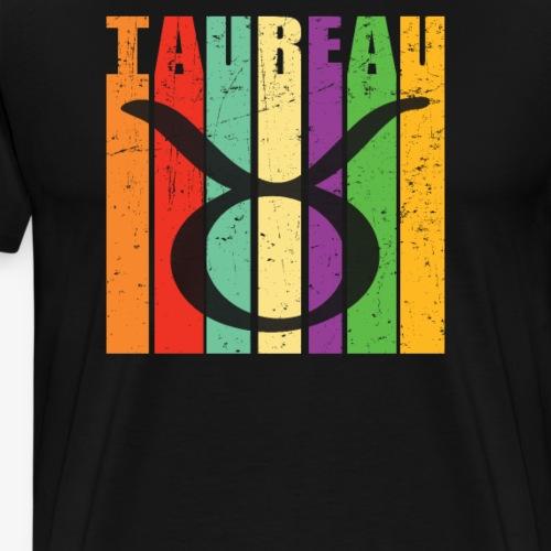 Symbole, signe du zodiaque TAUREAU, avril, mai - T-shirt Premium Homme