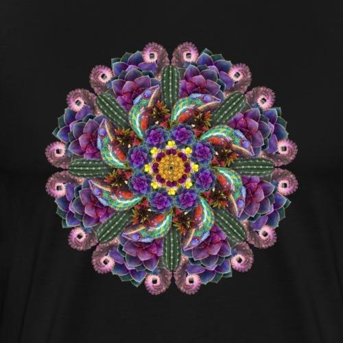 succulent chameleon mandala - Men's Premium T-Shirt