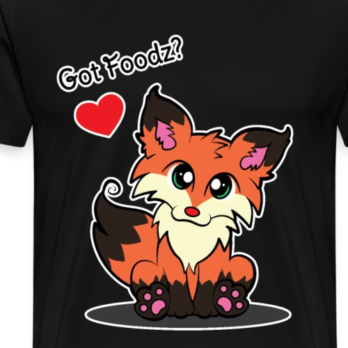 Orange Fox - Got Foodz? - Men's Premium T-Shirt