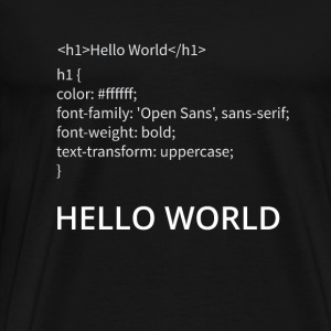 Hello World - Männer Premium T-Shirt
