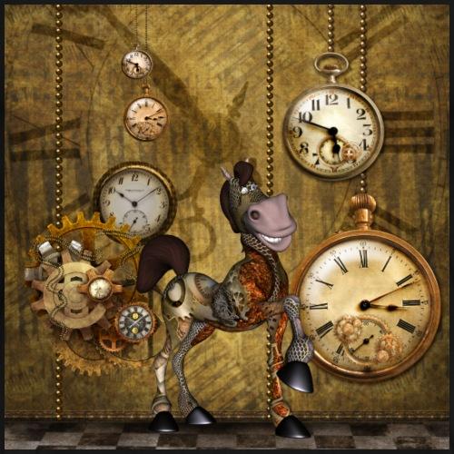 Lindo caballo steampunk - Camiseta premium hombre