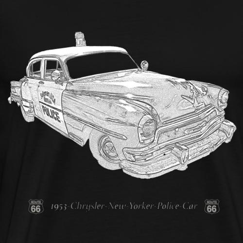police car US - Männer Premium T-Shirt