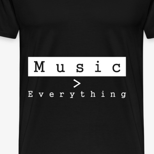 MUSIC IS EVERYTHING Festival T-Shirt, Concert - Men's Premium T-Shirt