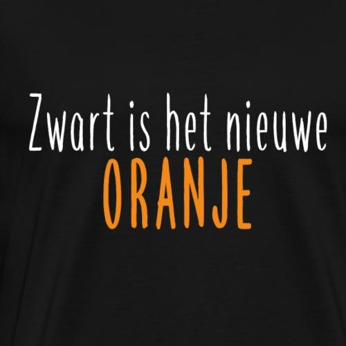Zwart is het nieuwe oranje - Mannen Premium T-shirt