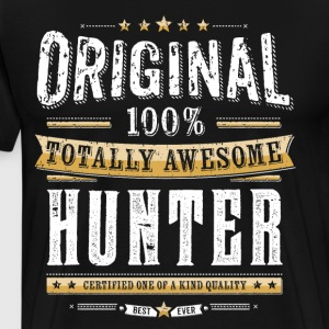 Original 100% Awesome Hunter - Männer Premium T-Shirt