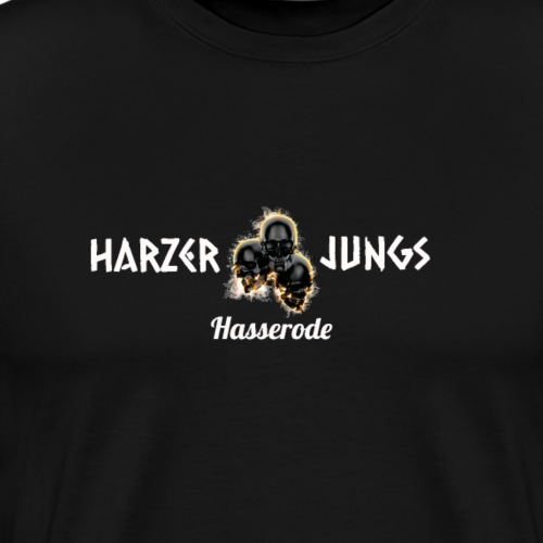 Harzer Junge skull - Männer Premium T-Shirt