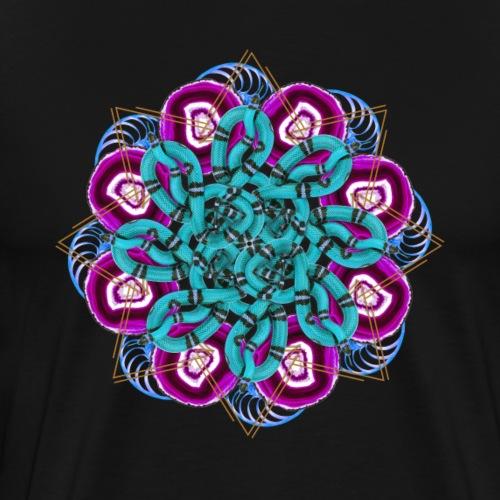 turquoise snakes mandala - Men's Premium T-Shirt