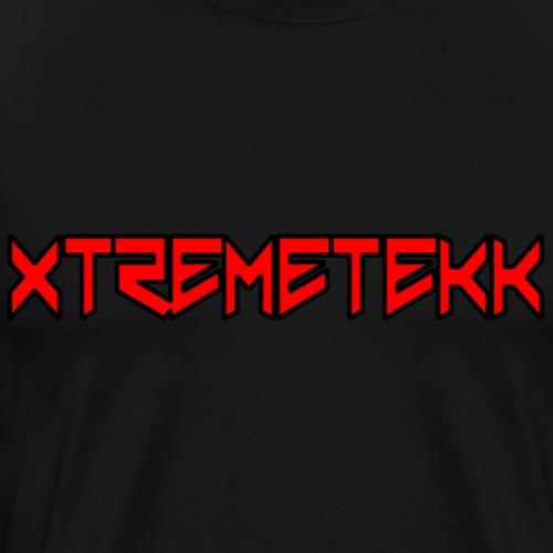 XTREMETEKK Nero Red (Black Outline) - Männer Premium T-Shirt