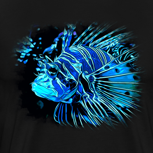gxp feuerfisch vektor kunst blau - Männer Premium T-Shirt