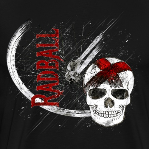Radball | Cycle Ball Skull - Männer Premium T-Shirt