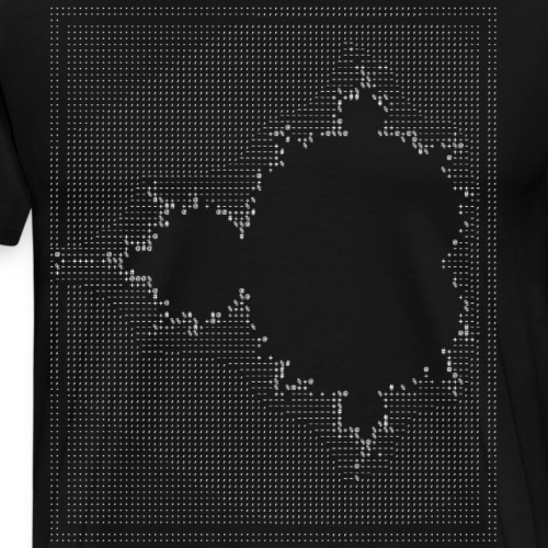 nerd mandelbrot ascii apfelmännchen code programer - Männer Premium T-Shirt