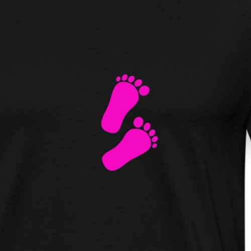 Baby füße Mädchen - Männer Premium T-Shirt