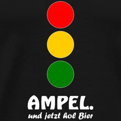 Ampel - und jetzt hol Bier - Männer Premium T-Shirt
