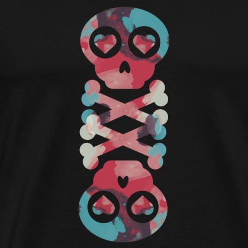Fancy Skull - Mannen Premium T-shirt
