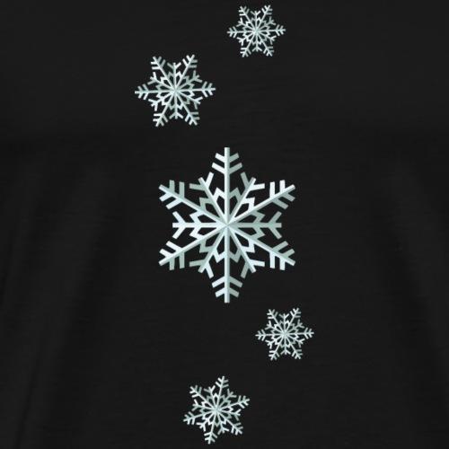 Weihnachtspullover - Schneeflocken - Männer Premium T-Shirt