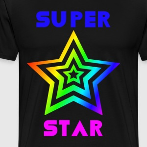 Rainbow Super Star - Premium T-skjorte for menn