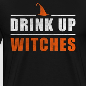Halloween Drink up Witches outfit - Mannen Premium T-shirt
