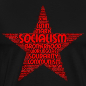 socialisme word cloud - Mannen Premium T-shirt