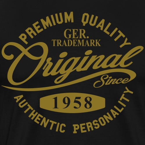 Original Since 1958 Handwriting Premium Quality - Männer Premium T-Shirt