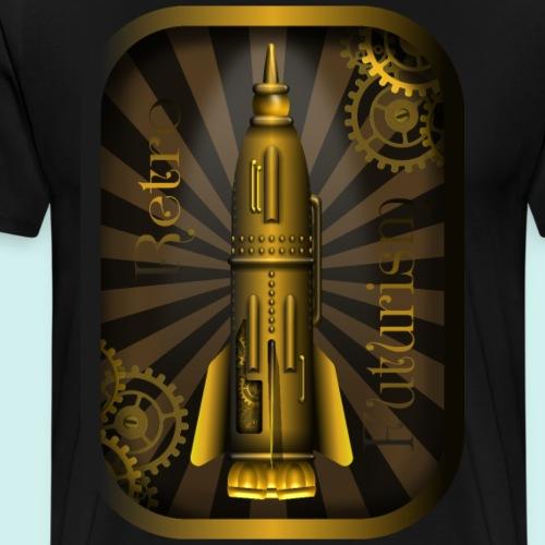 Steampunk Rakete - Männer Premium T-Shirt
