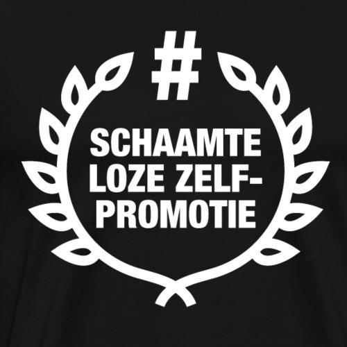 schaamteloze zelfpromotie - Mannen Premium T-shirt