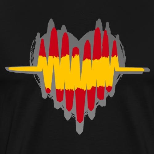 Spanien Herz Puls - Männer Premium T-Shirt