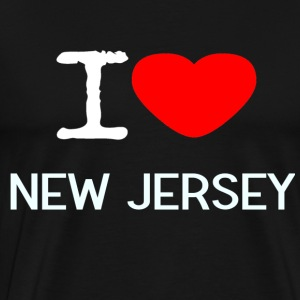 I LOVE NEW JERSEY - Premium T-skjorte for menn