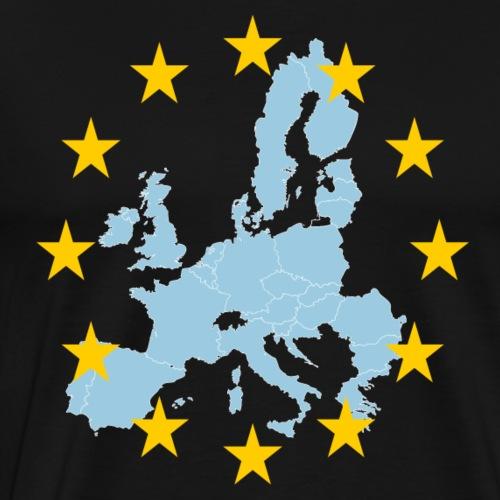 EU Karte und Sterne - Männer Premium T-Shirt