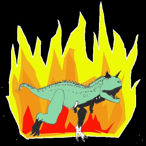 Dinopower - Super Carnotaurus - Männer Premium T-Shirt