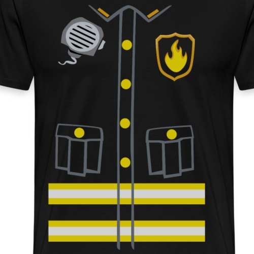 Fireman Costume - Dark edition - Men's Premium T-Shirt