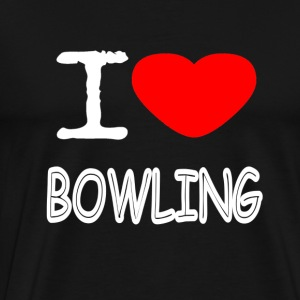 I LOVE BOWLING - Men's Premium T-Shirt