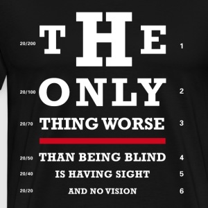 Eye test optics fun Joker sharp humor typo lol bril - Men's Premium T-Shirt