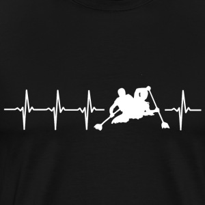 I love kayaking (kayak heartbeat) - Men's Premium T-Shirt