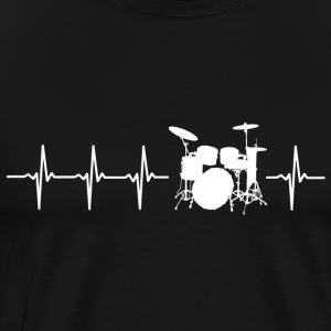 I love drums (drum heartbeat) - Men's Premium T-Shirt