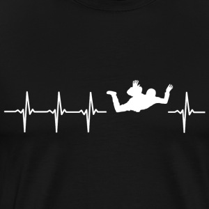 I love skydiving (skydive heartbeat) - Men's Premium T-Shirt