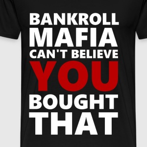 BANKROLLWHITERED - Men's Premium T-Shirt