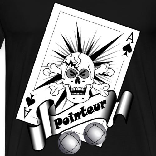 t shirt petanque pointeur crane boules as pointeur - T-shirt Premium Homme