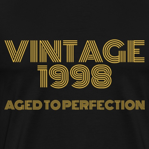 Vintage Pop Art 1998 Birthday. Aged to perfection. - Men's Premium T-Shirt