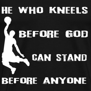 basketbal God - Mannen Premium T-shirt