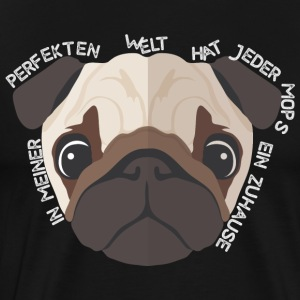 Pug - home - Love - Animal - Mannen Premium T-shirt