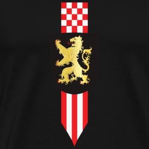 Logo Brabant Leeuw en korte winpel def2 - Mannen Premium T-shirt