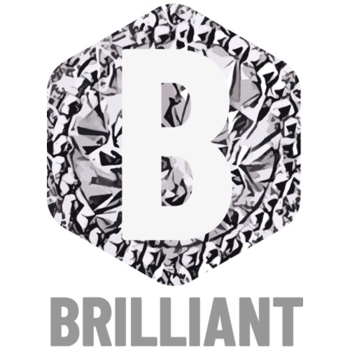 B brilliant grey - Mannen Premium T-shirt
