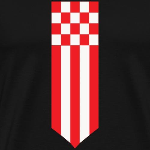 Brabant korte wimpel def - Mannen Premium T-shirt