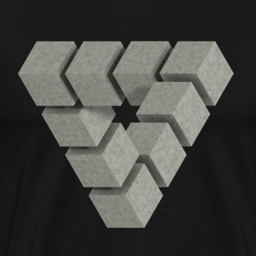 Penrose concrete blocks - Men's Premium T-Shirt