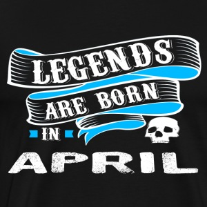 Legends født i april - Herre premium T-shirt