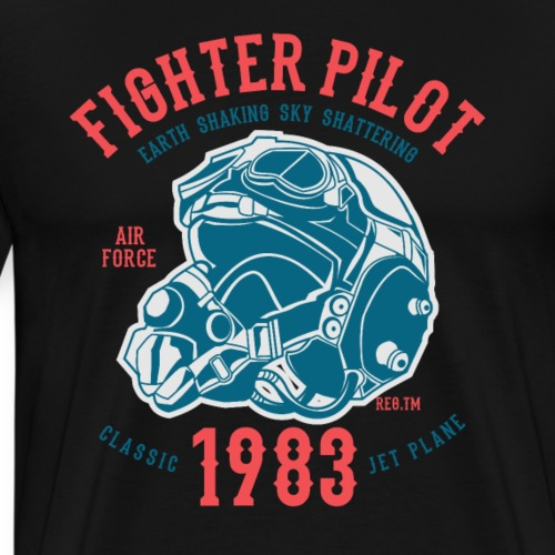 Fighter Pilot - Männer Premium T-Shirt