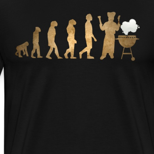 Evolution Of Grilling Funny Barbecue - Männer Premium T-Shirt