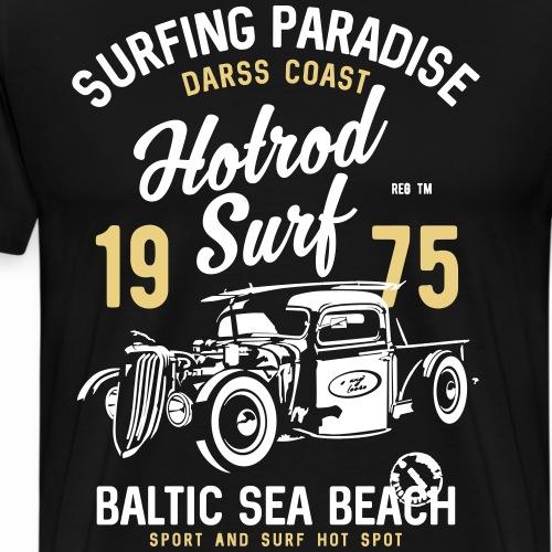 OSTSEE - Darss Hotrod Surfer Geschenke Surf Shirts - Männer Premium T-Shirt