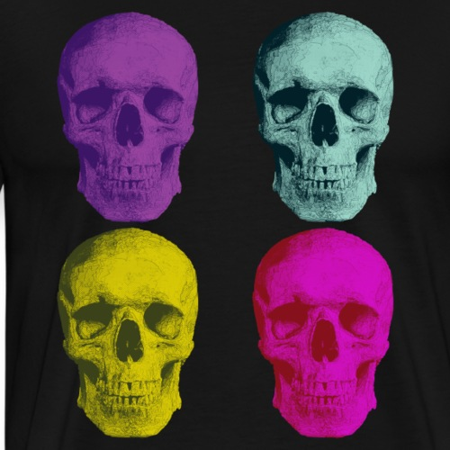 pop art skulls - Premium-T-shirt herr