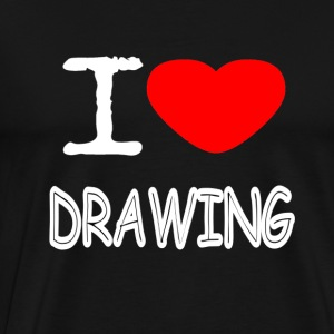 I LOVE DRAWING - Männer Premium T-Shirt